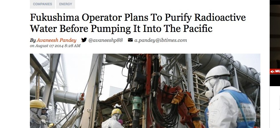 Fukushima Operator Plans To Purify Radioactive Water Before Pumping It Into The Pacific